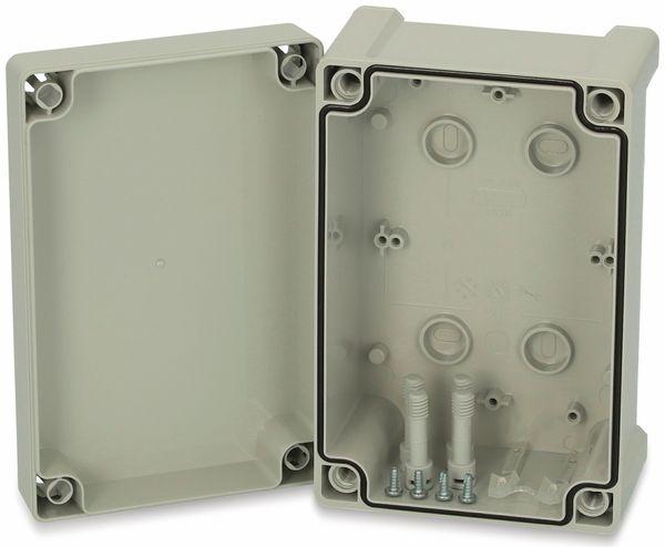 Gehäuse, FIBOX, Tempo TA 191209, 187x122x90, ABS Gehäuse mit Deckelscharnier, grauer Deckel