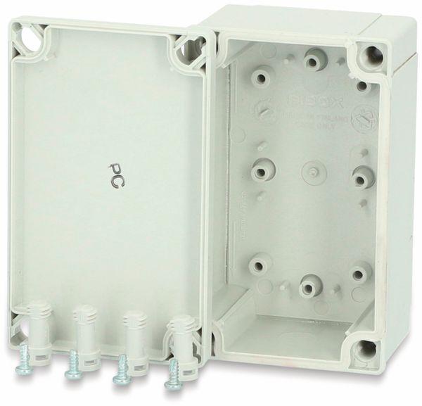 Gehäuse, FIBOX, MNX PC 100/60 HG, 130x80x60, PC Gehäuse, grauer Deckel