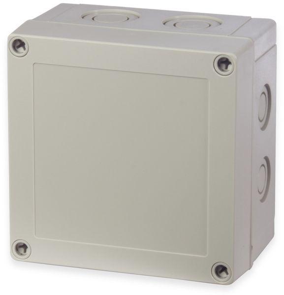 Gehäuse, FIBOX, MNX PCM 125/60 G, 130x130x60, PC Gehäuse m.Vorprägungen,grauer Deckel