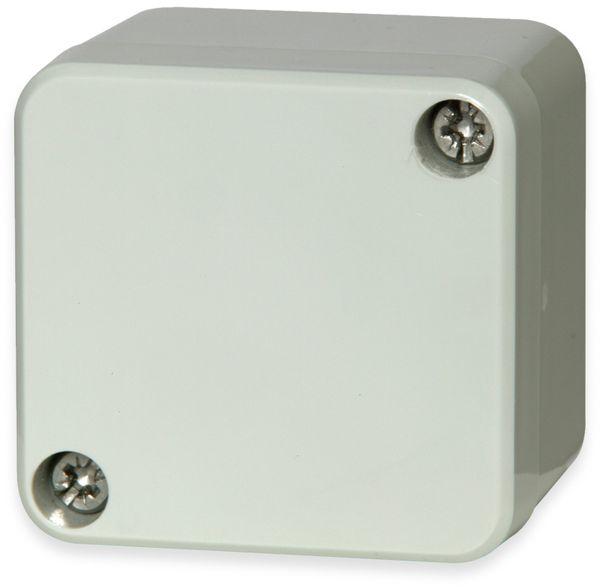 Gehäuse, FIBOX, Euronord PC 050504, 52x50x40, PC Gehäuse, grauer Deckel