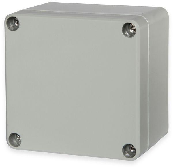 Gehäuse, FIBOX, Euronord PC 080806, 82x80x55, PC Gehäuse, grauer Deckel