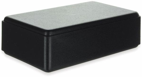 Gehäuse, TEKO, 10013-B.9, ABS , Schwarz, 109x69,5x40 mm, Batteriefach