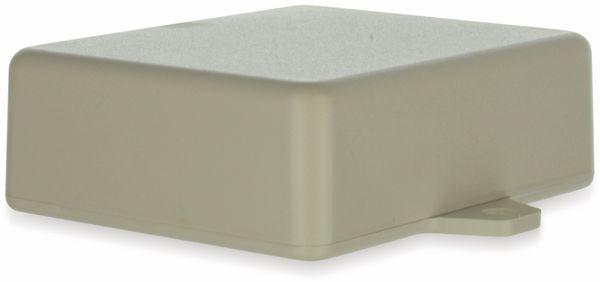 Gehäuse, TEKO, SR22-E.7, ABS , Weiß, 76x63,5x26 mm, mit Befestigungsflansch