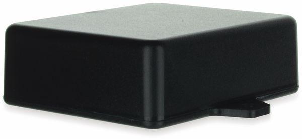 Gehäuse, TEKO, SR22-E.9, ABS , Schwarz, 76x63,5x26 mm, mit Befestigungsflansch