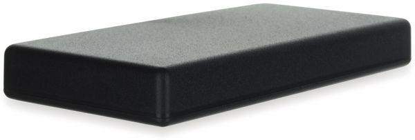 Gehäuse, TEKO, SR31.9, ABS , Schwarz, 128x64x16,5 mm