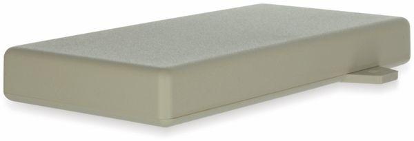 Gehäuse, TEKO, SR31-E.7, ABS , Weiß, 128x64x16,5 mm, mit Befestigungsflansch