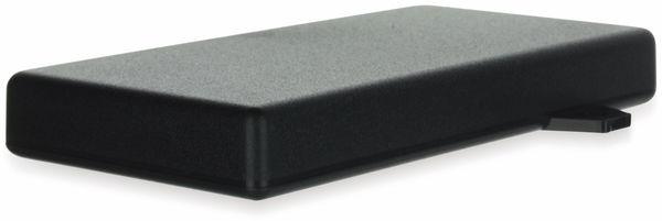 Gehäuse, TEKO, SR31-E.9, ABS , Schwarz, 128x64x16,5 mm, mit Befestigungsflansch