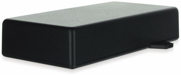 Gehäuse, TEKO, SR33-E.9, ABS , Schwarz, 128x64x26 mm, mit Befestigungsflansch