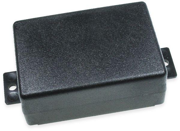 Kunststoffgehäuse, Kemo , G023N, 74x51x28 mm (ohne Befestigungslaschen), Thermoplast/PS, schwarz