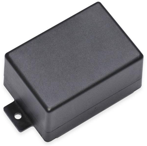 Kunststoffgehäuse, Kemo , G024N, 72x50x41 mm (ohne Befestigungslaschen), Thermoplast/PS, schwarz