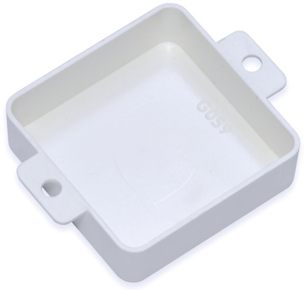 Kunststoffgehäuse, Kemo , G059W, 40x40x12 mm, Thermoplast/ABS, weiß