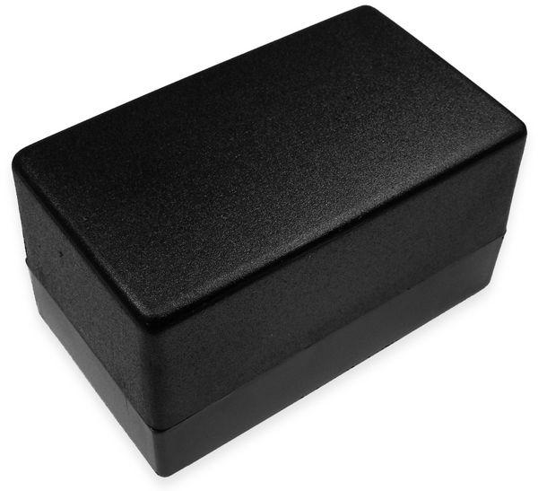 Kunststoffgehäuse, Kemo , G083N, 120x70x65 mm, Thermoplast/PS, schwarz