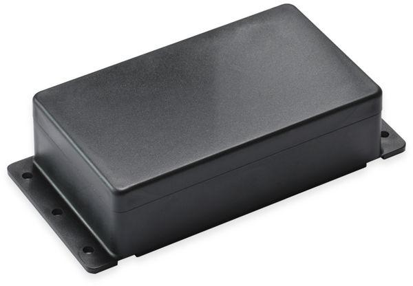 Kunststoffgehäuse, Kemo , G085N, 120x70x35 mm (ohne Befestigungslaschen), Thermoplast/PS, schwarz