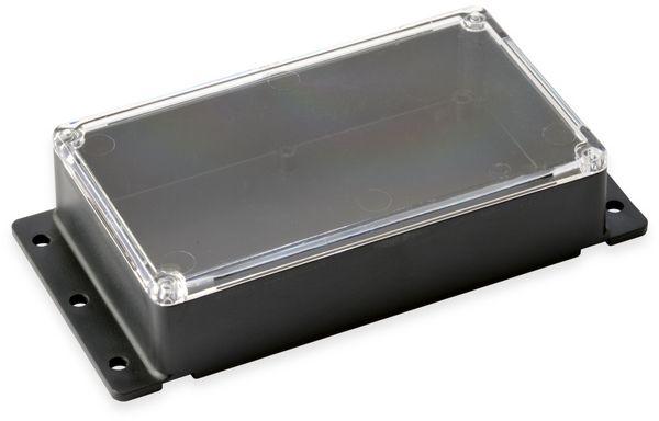 Kunststoffgehäuse, Kemo , G089N, 121x71x31 mm (ohne Befestigungslaschen), Thermoplast/PS, schwarz
