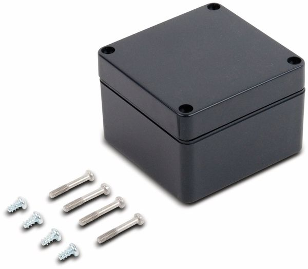 Universalgehäuse, POLLIN, ABS, 82 x 80 x 55 mm, IP66, schiefergrau