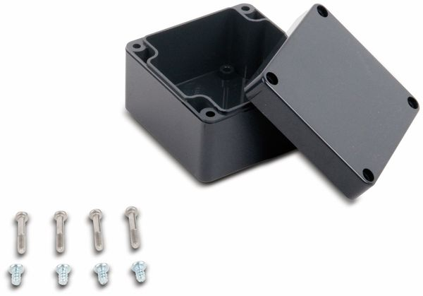 Universalgehäuse, POLLIN, ABS, 82 x 80 x 55 mm, IP66, schiefergrau - Produktbild 2