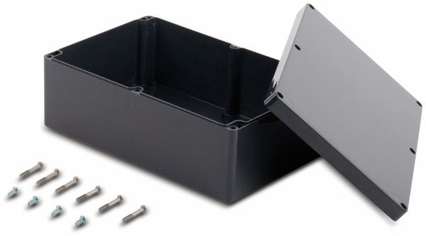 Universalgehäuse, POLLIN, ABS, 240,3 x 160,3 x 90 mm, IP66, schiefergrau - Produktbild 2