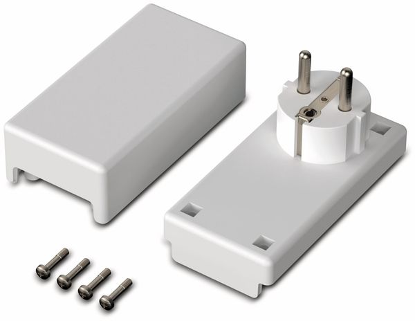 Steckergehäuse, BOPLA, Eletec, PC/ABS-Blend, 100 x 50 x 40 mm, IP40, weiß - Produktbild 2
