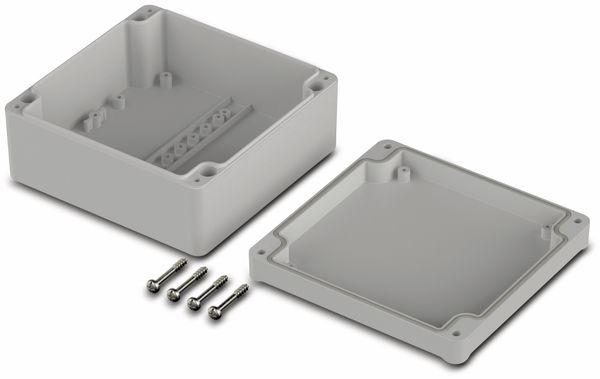 Universalgehäuse, BOPLA, Euromas II, ABS, 122 x 120 x 57 mm, IP65, lichtgrau - Produktbild 2