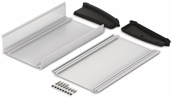 Pultgehäuse, BOPLA, Alu-Topline, Aluminium / ABS, 181,2 x 300 x 68,2 mm, IP54, naturfarben / schwarz - Produktbild 2