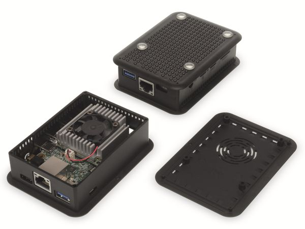 Gehäuse, TEKO TEK-CORAL.9, ABS + PC, Schwarz, 100,8 x 73,7 x 29,25 mm