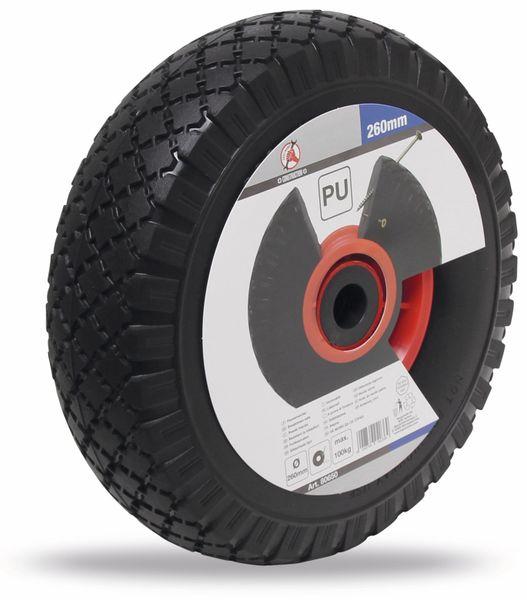 PU Rad für Sackkarre und Bollerwagen, Rot/schwarz Ø 260 mm