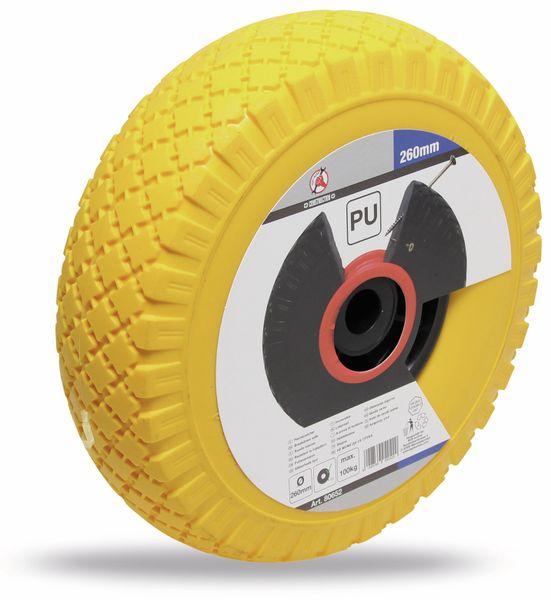 PU Rad für Sackkarre und Bollerwagen, schwarz/gelb Ø 260 mm