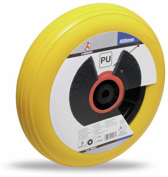 PU Rad für Schubkarre, schwarz/gelb Ø 400 mm