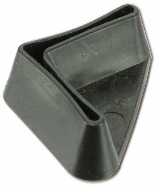 Kunststoff-Fuß für Winkelprofil, 25x25 mm, schwarz - Produktbild 1