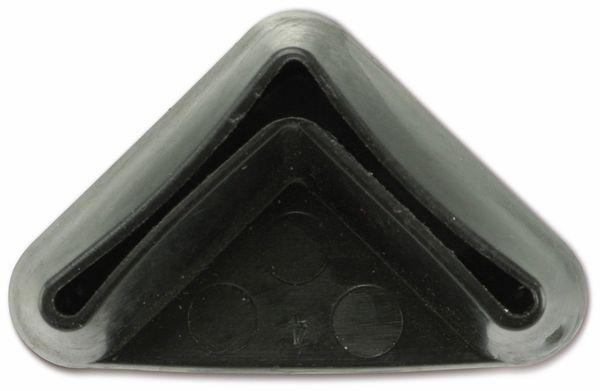 Kunststoff-Fuß für Winkelprofil, 25x25 mm, schwarz - Produktbild 2