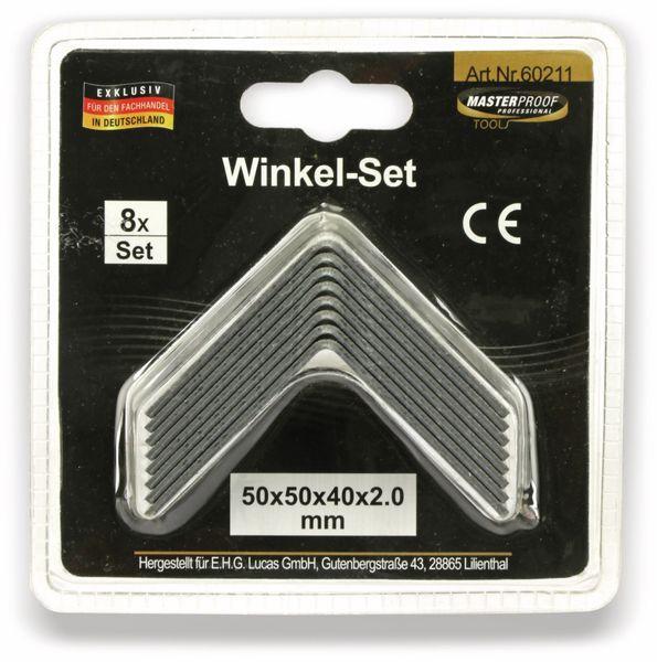 Winkelverbinder, 50x50x40x2 mm, 8 Stück - Produktbild 5