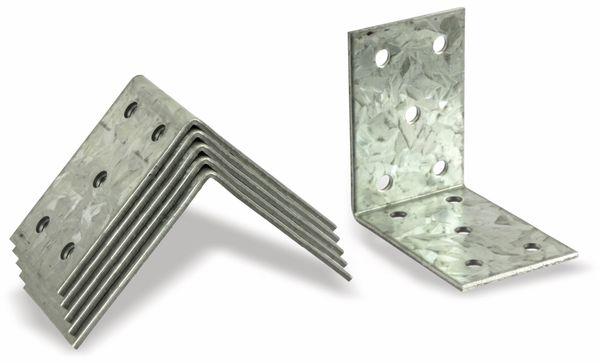 Winkelverbinder, 60x60x40x2 mm, 6 Stück - Produktbild 1