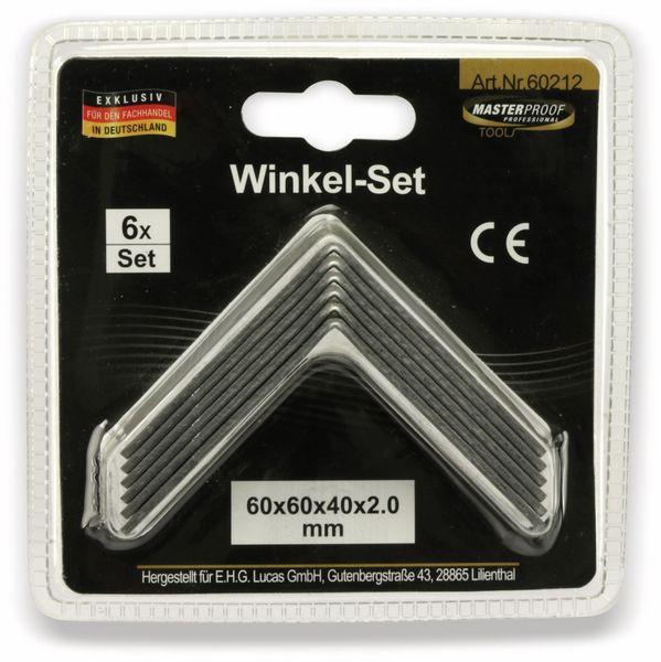 Winkelverbinder, 60x60x40x2 mm, 6 Stück - Produktbild 5