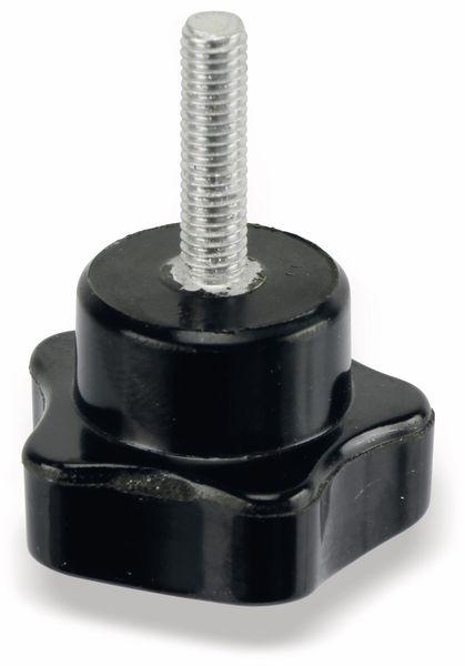 Sterngriffschraube, M5/20mm, schwarz - Produktbild 3