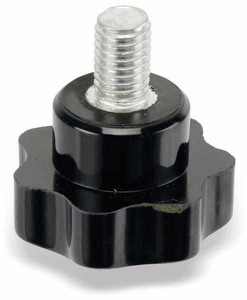 Sterngriffschraube, M10/15mm, schwarz - Produktbild 3