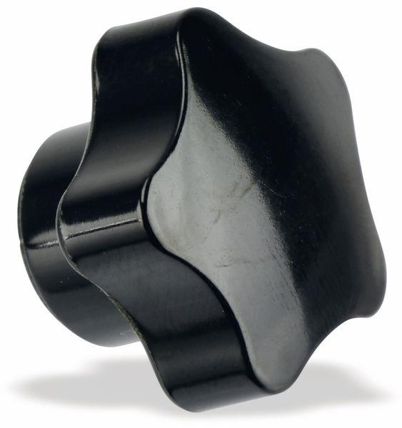 Sterngriffmutter, M5/15mm, schwarz - Produktbild 2