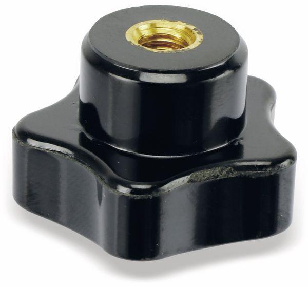 Sterngriffmutter, M6/15mm, schwarz - Produktbild 3
