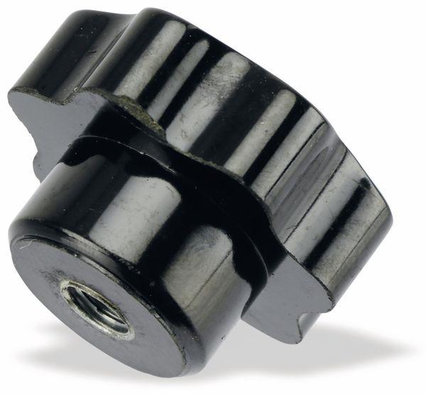 Sterngriffmutter, M8/15mm, schwarz - Produktbild 1