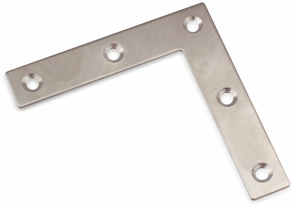 Verbindungbleche, L-Winkel, 80x80x16mm, Edelstahl, 10 Stück