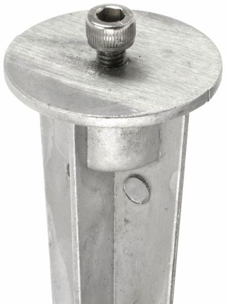 Erdspieß aus Aluguss natur 210mm mit M6 Schraube - Produktbild 2