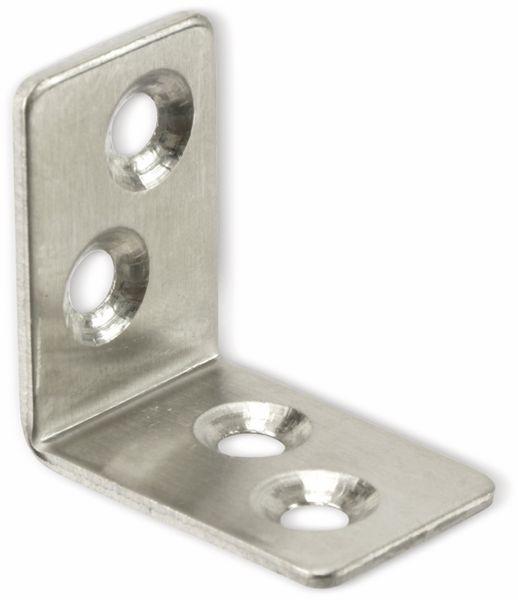 Winkelverbinder, Edelstahl, 30x30x20 mm, 10 Stück