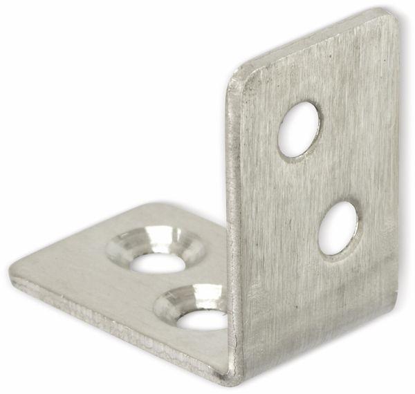 Winkelverbinder, Edelstahl, 30x30x20 mm, 10 Stück - Produktbild 2