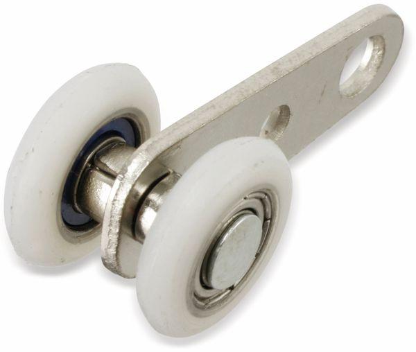 Doppel-Laufrolle für 20 mm Laufschiene