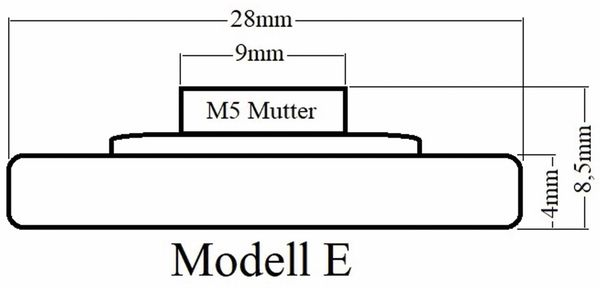 Laufrolle, Ø 28 mm, Breite 9 mm, M5 - Produktbild 2