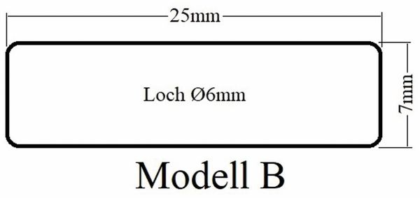Laufrolle, Ø 25mm, Breite 7mm, Loch Ø 6 mm - Produktbild 2