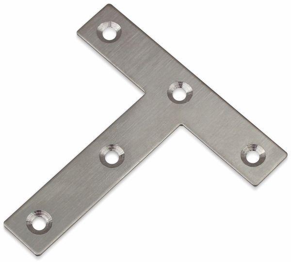 Verbindungsbleche, T-Winkel, 80x80x16 mm, Edelstahl, 10 Stück