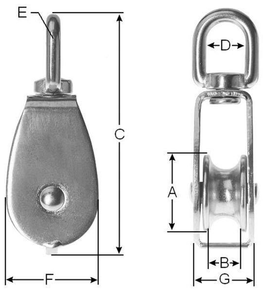 Umlenkrolle, Metall, 13 mm - Produktbild 2