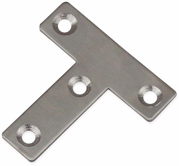 Verbindungsbleche, T-Winkel, 50x50x14 mm, Edelstahl, 10 Stück