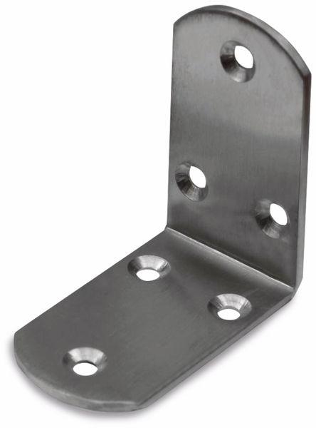 Winkelverbinder, Edelstahl, abgerundet, 65x65x38 mm