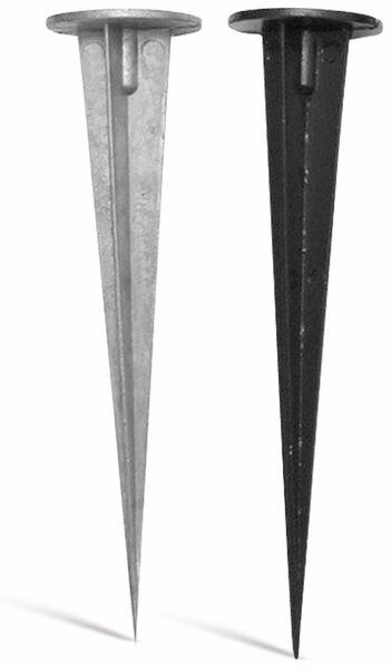 Erdspieß aus Aluguss natur 150mm mit M5 Schraube